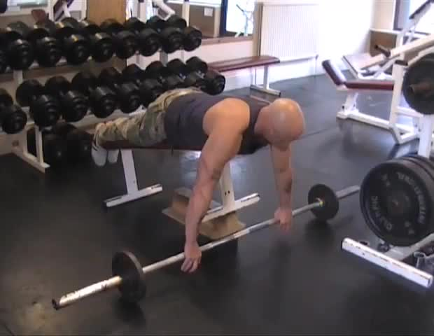 Incline Bench Barbell Row Video Exercise Guide Tips