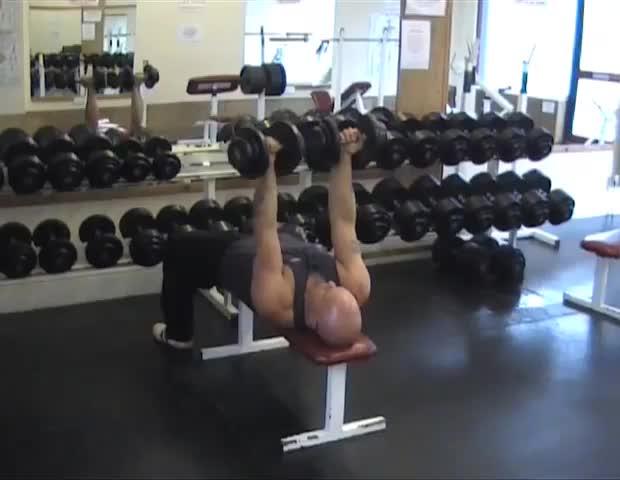 Reverse Dumbbell Bench Press Video Exercise Guide Tips