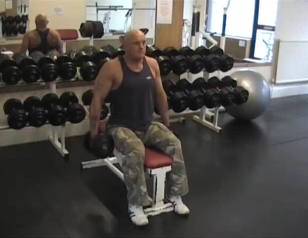 Seated Dumbbell Shrug: Video Exercise Guide & Tips