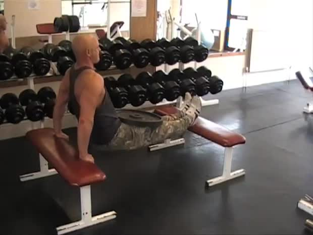Swell Weighted Bench Dips Video Exercise Guide Tips Pdpeps Interior Chair Design Pdpepsorg
